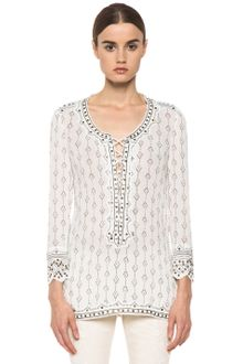 Isabel Marant Alicia Studded Cotton Crepe Top  - Lyst