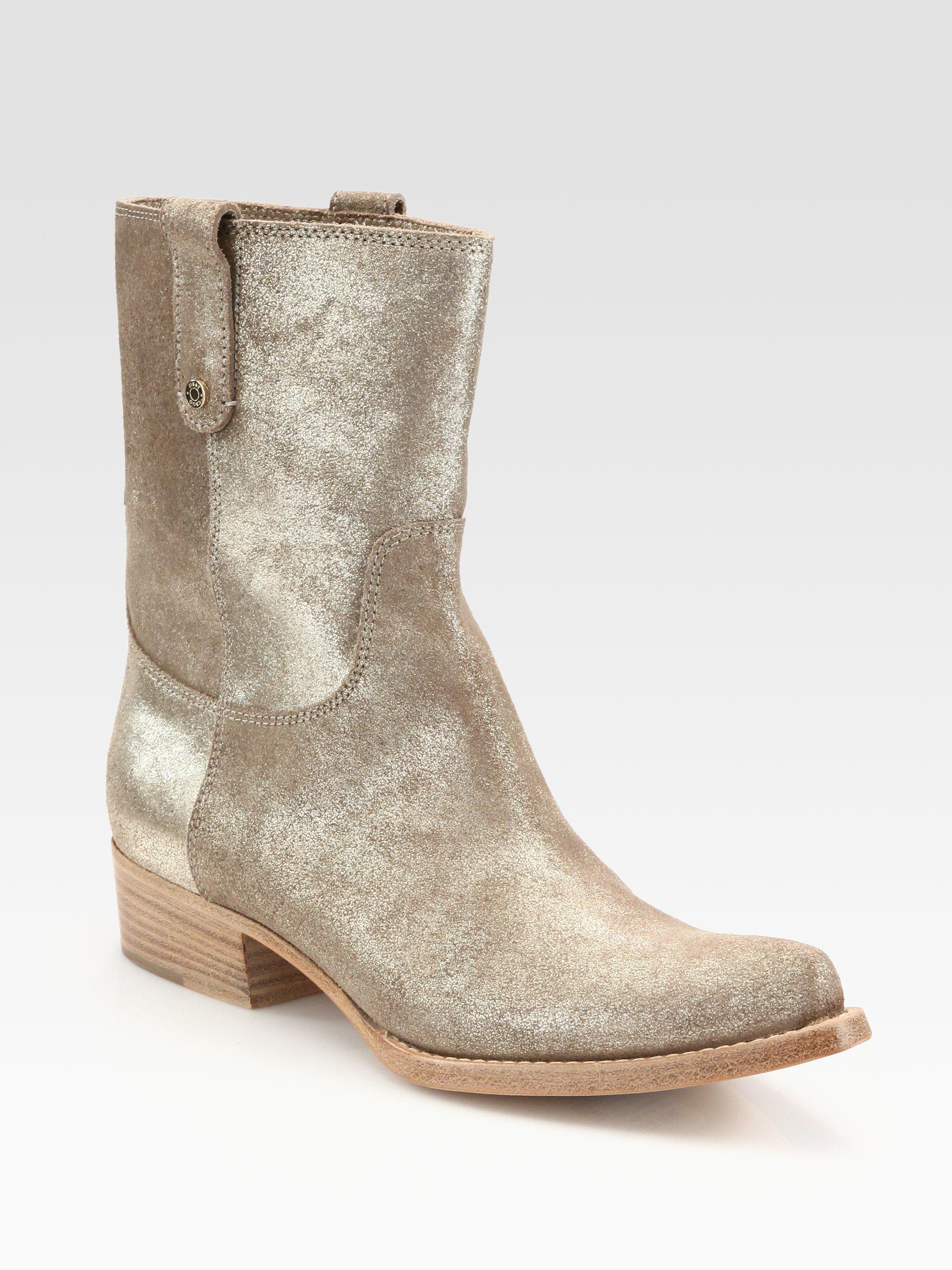 Jimmy choo Glitter Metallic Leather Cowboy Boots in Metallic | Lyst