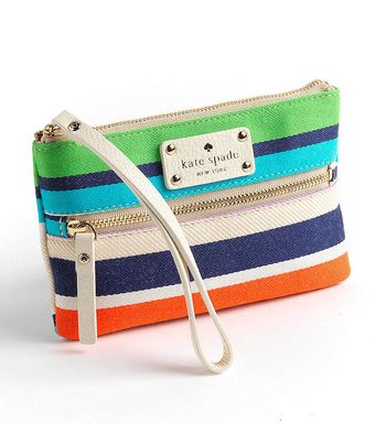 Kate Spade Cobble Hill Stripes Bee Wristlet - Lyst