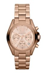Michael Kors Midsize Rose Golden Stainless Steel Bradshaw Chronograph Watch - Lyst