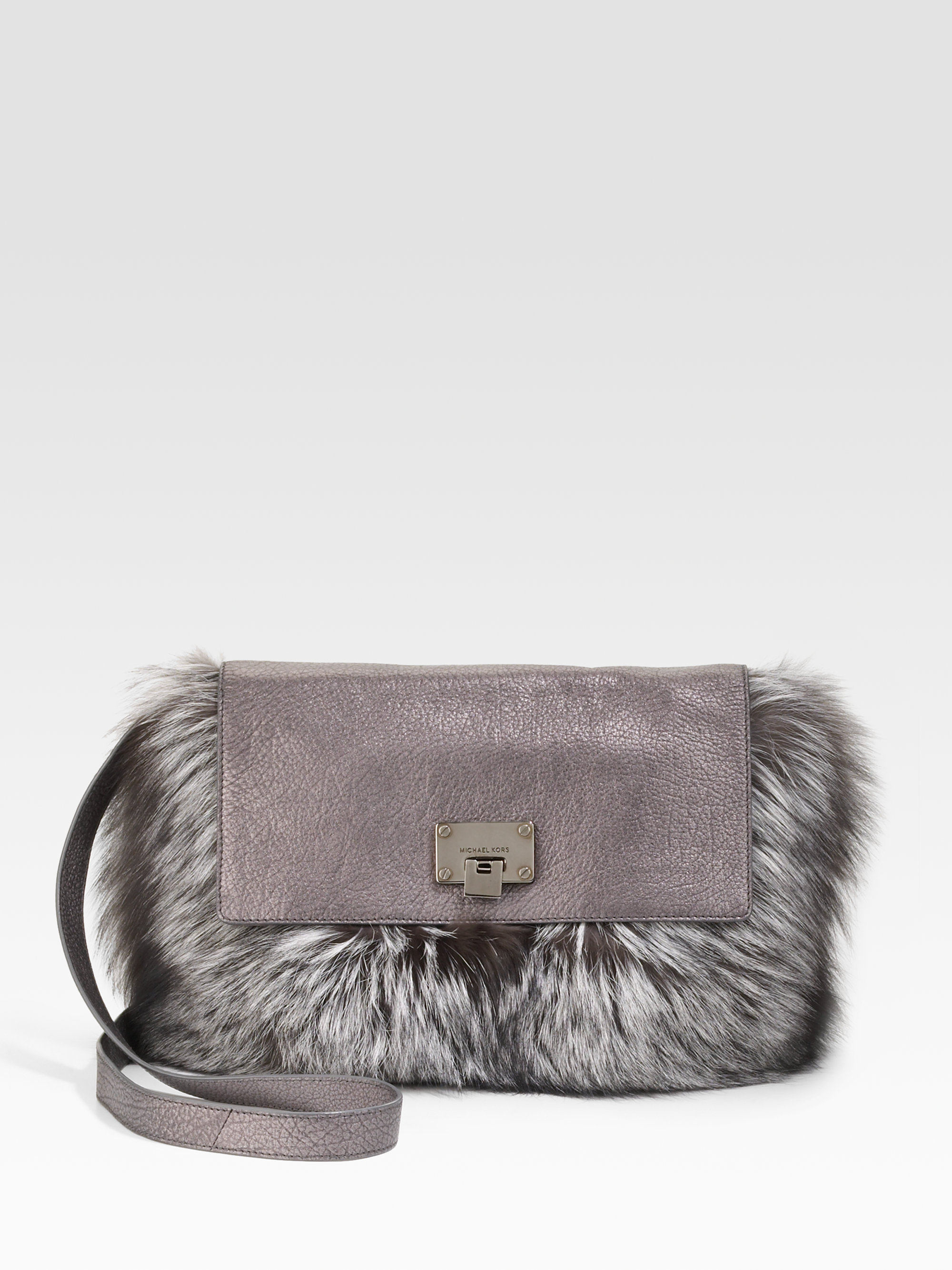 Michael Kors Fur Shoulder Bag 20