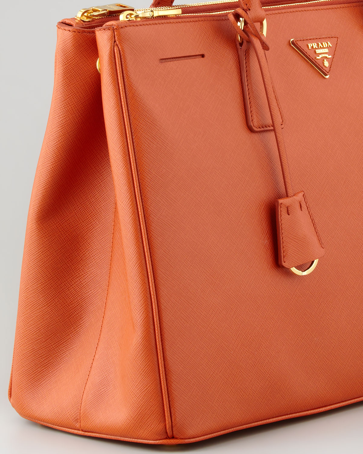 90f1093f1963b8 ... new zealand lyst prada saffiano lux medium executive tote bag in orange  baf67 8acef