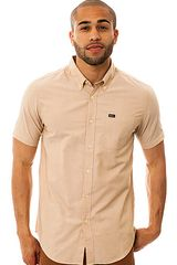 RVCA The Thatll Do Ss Buttondown Shirt in Wheat - Lyst
