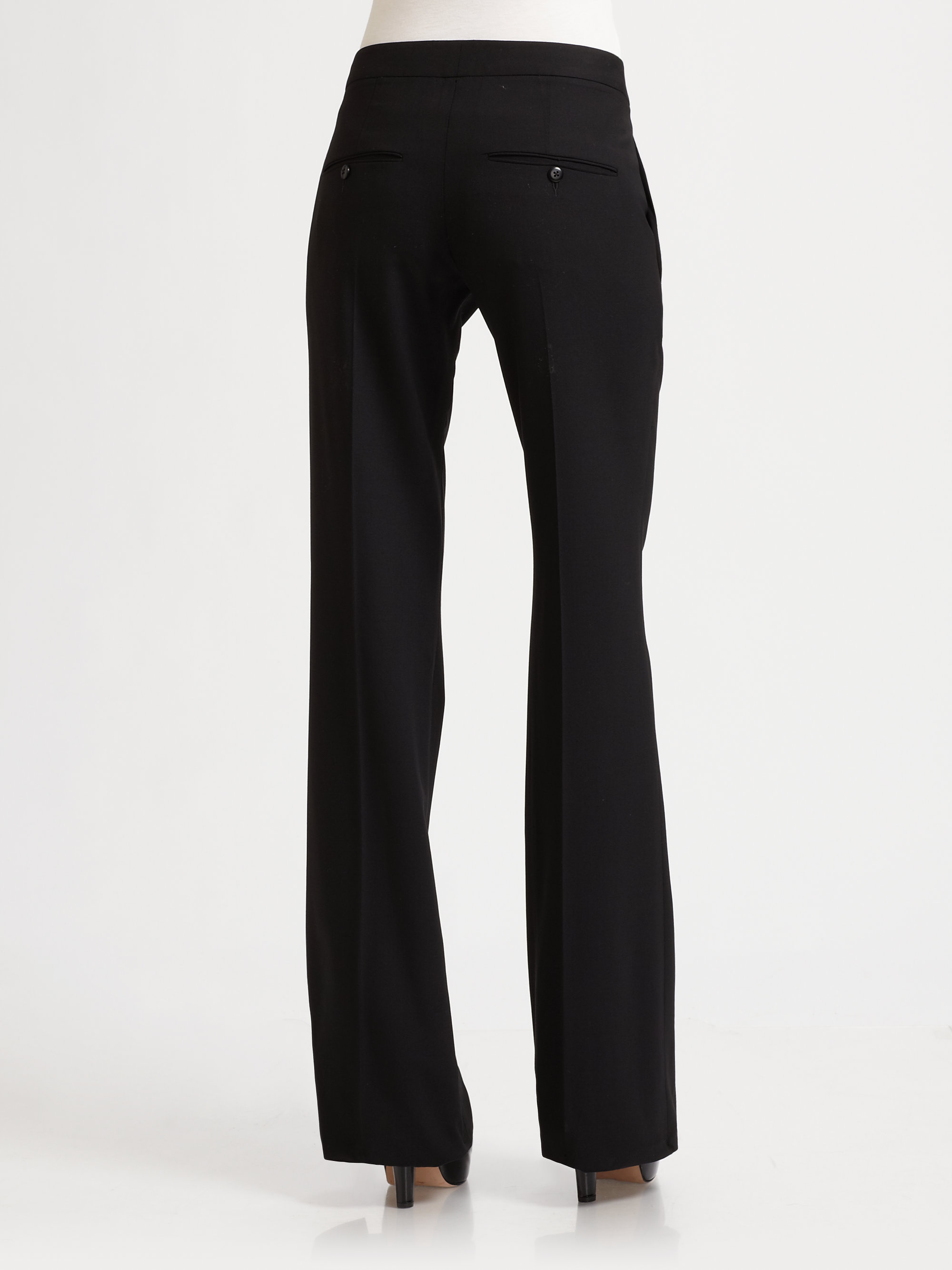Lyst - Theory Yadie Pleated Flare Dress Pants in Black