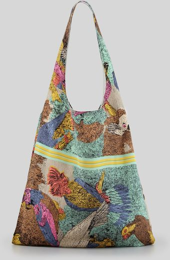 Twelfth Street by Cynthia Vincent Parrot Scarf Shopper Bag - Lyst