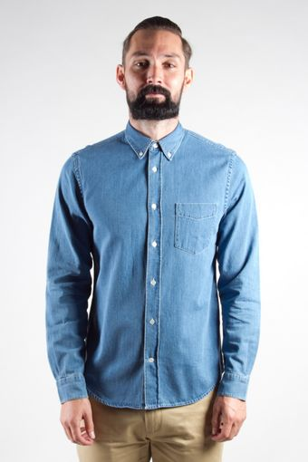 Acne Isherwood Shirt Lt Denim - Lyst