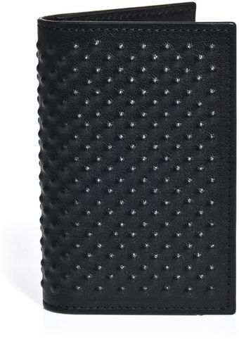 Alexander McQueen Scarification Textured Wallet - Lyst