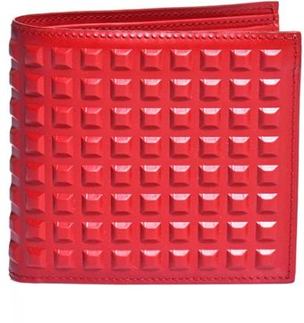 Balenciaga Leather Studded Wallet - Lyst