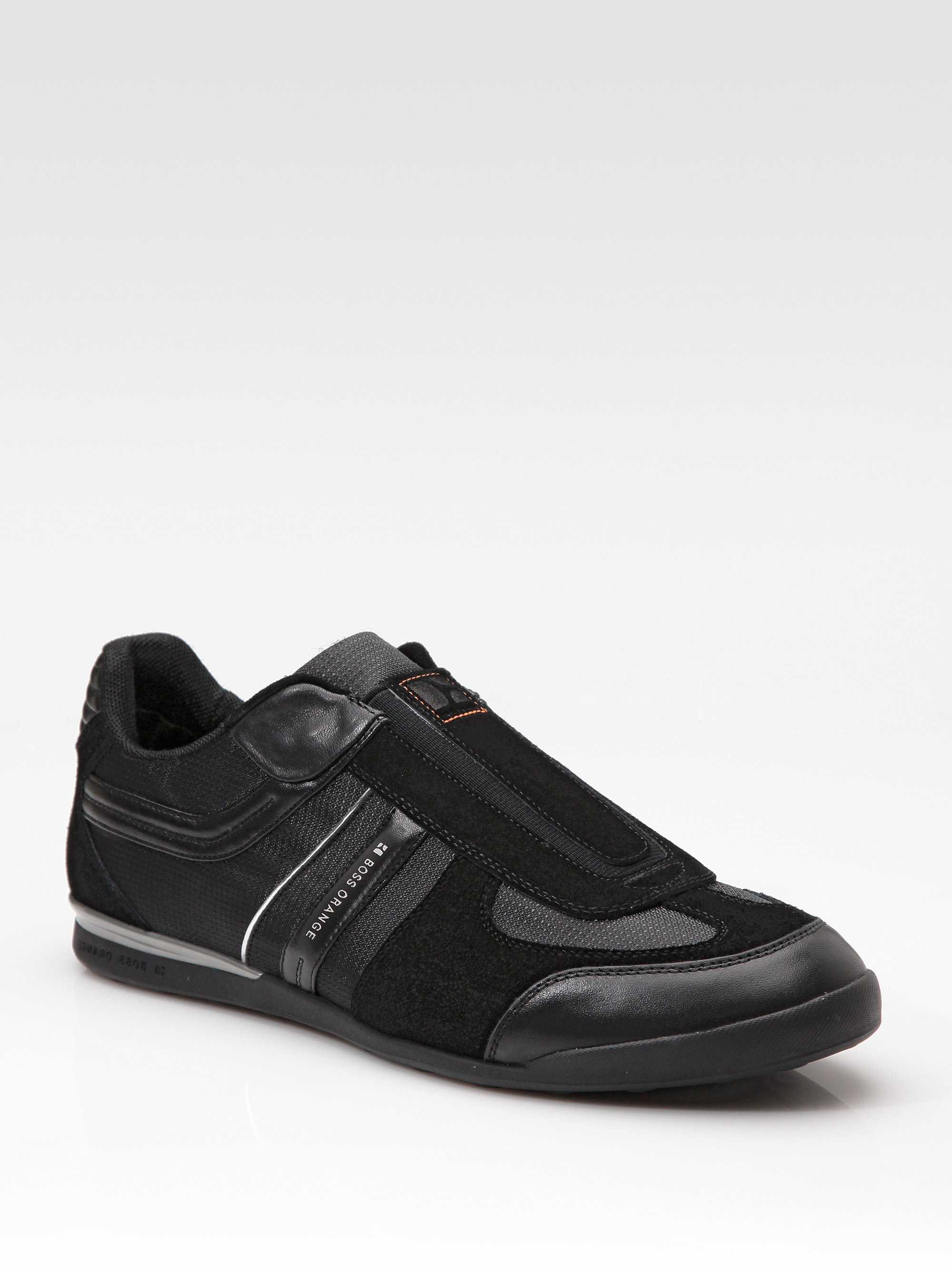 boss orange kempton slip on sneakers in black for men lyst. Black Bedroom Furniture Sets. Home Design Ideas