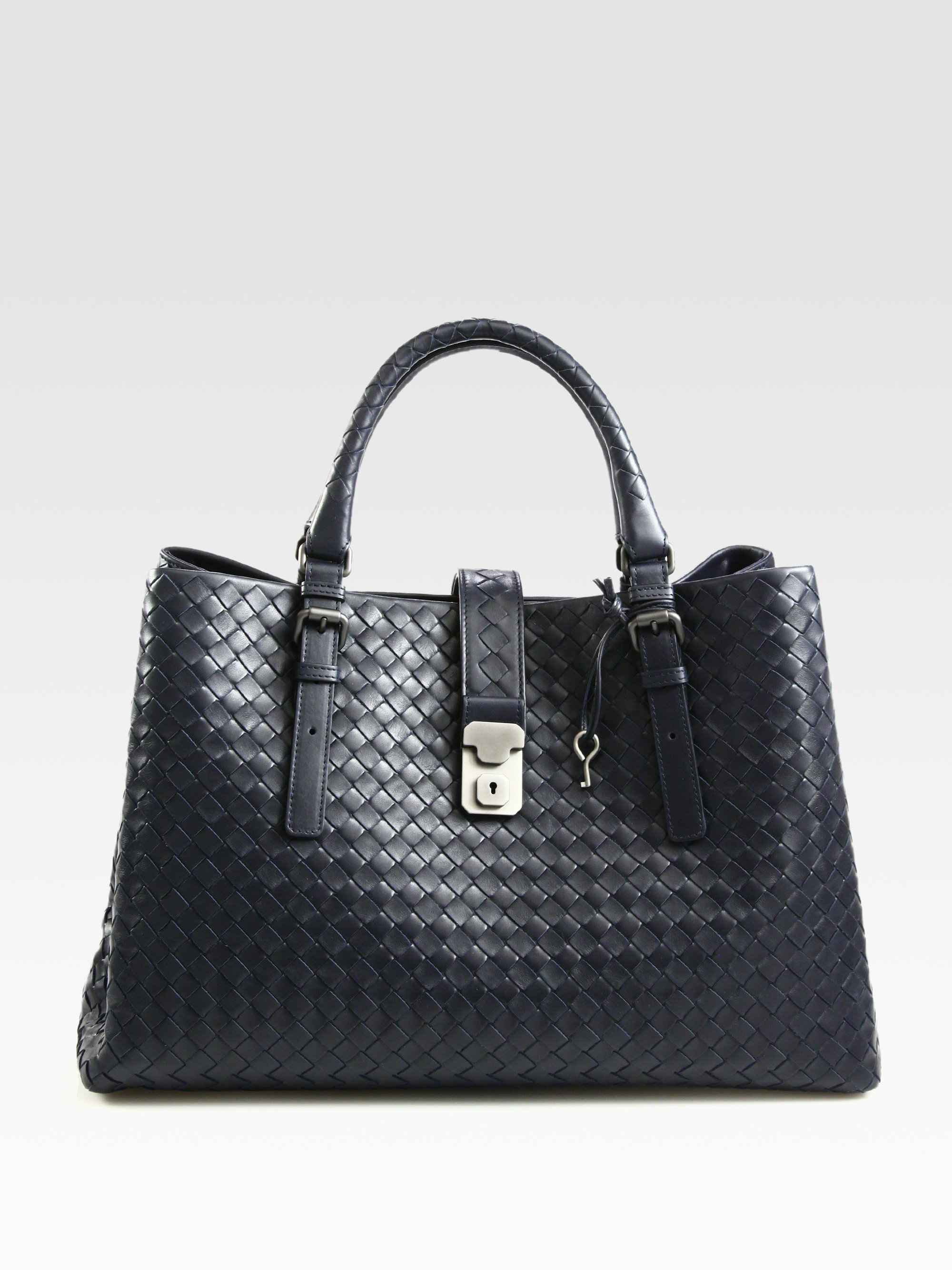 Borse Bottega Veneta 2013 : Bottega veneta roma medium intrecciato leather satchel in