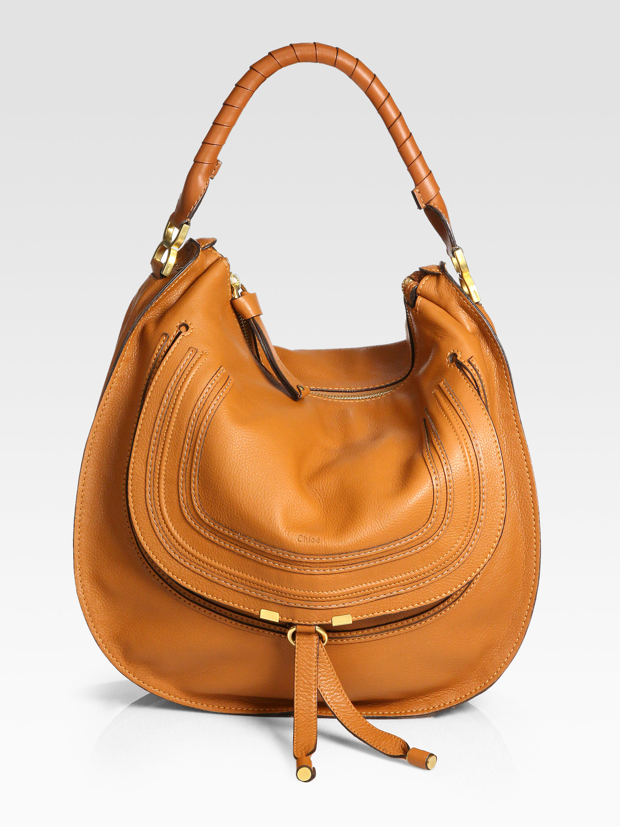 9223ec71de71 Chloé Marcie Large Hobo in Brown - Lyst