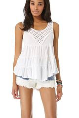 Free People Dorothys Babydoll Top - Lyst