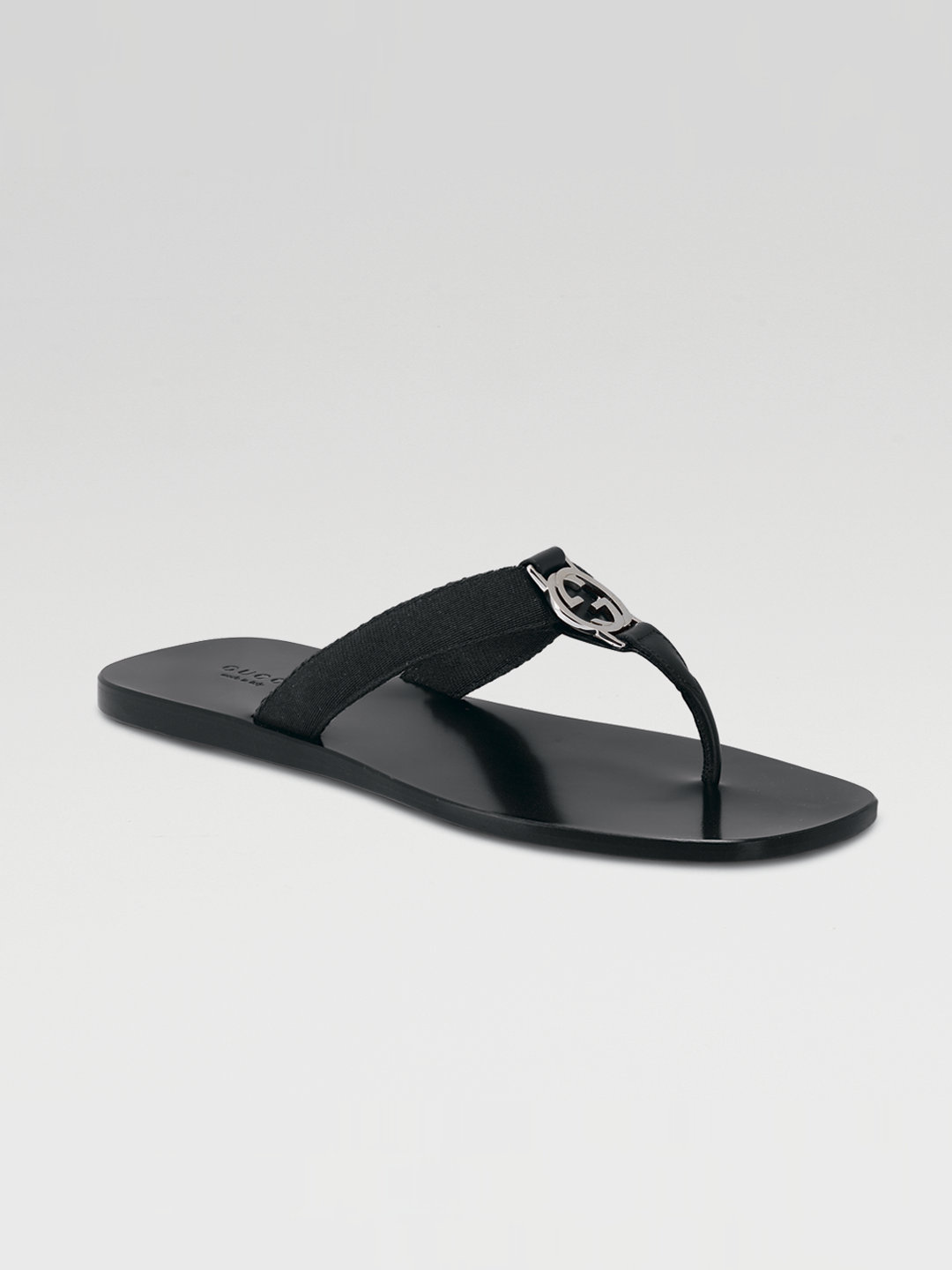 6d311b02a7f1 Lyst - Gucci Gg Thong Sandals in Black for Men