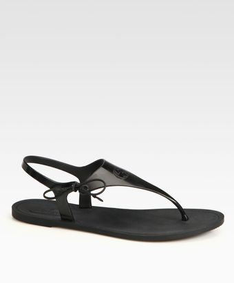 Gucci Katina Rubber Thong Sandals - Lyst