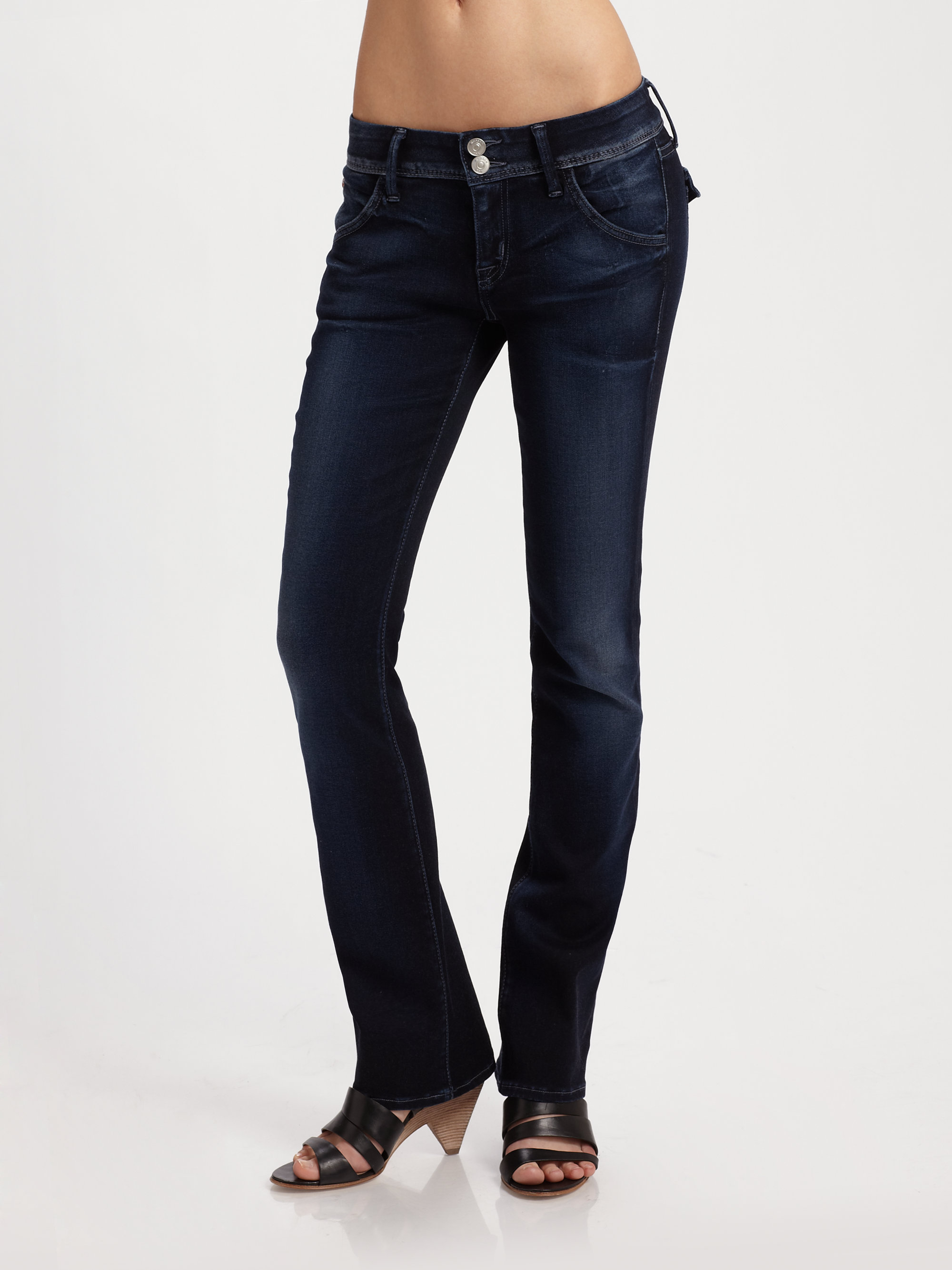 Hudson jeans Beth Petite Baby Bootcut Jeans in Blue | Lyst