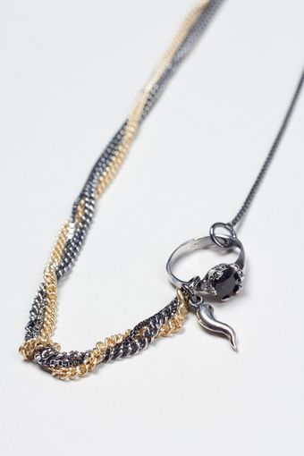 Iosselliani Necklace with Ring - Lyst