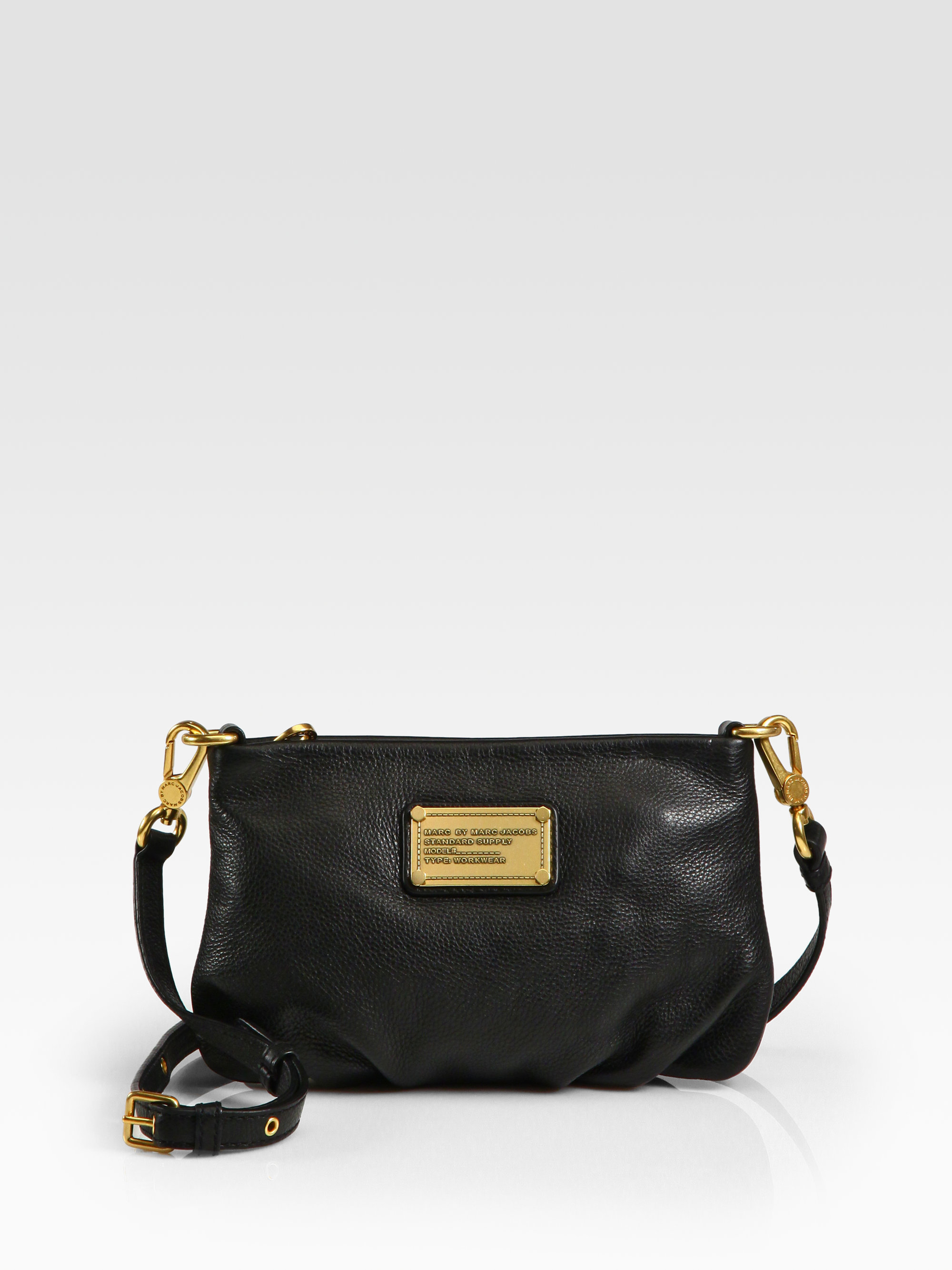 498731b8350e Lyst - Marc By Marc Jacobs Classic Q Percy Leather Cross-Body Bag in ...