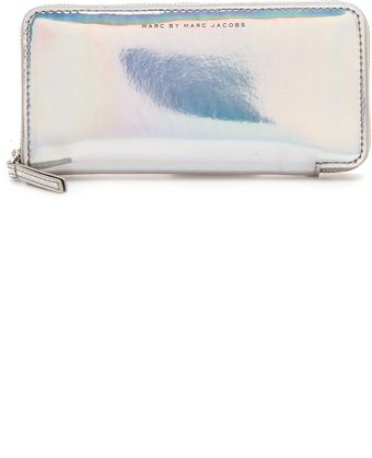 Marc By Marc Jacobs Techno Slim Zippy Wallet - Lyst