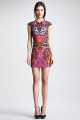 McQ by Alexander McQueen Kaleidoscope Print Capsleeve Sheath Dress - Lyst
