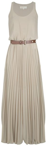 Michael by Michael Kors Pleated Dress - Lyst