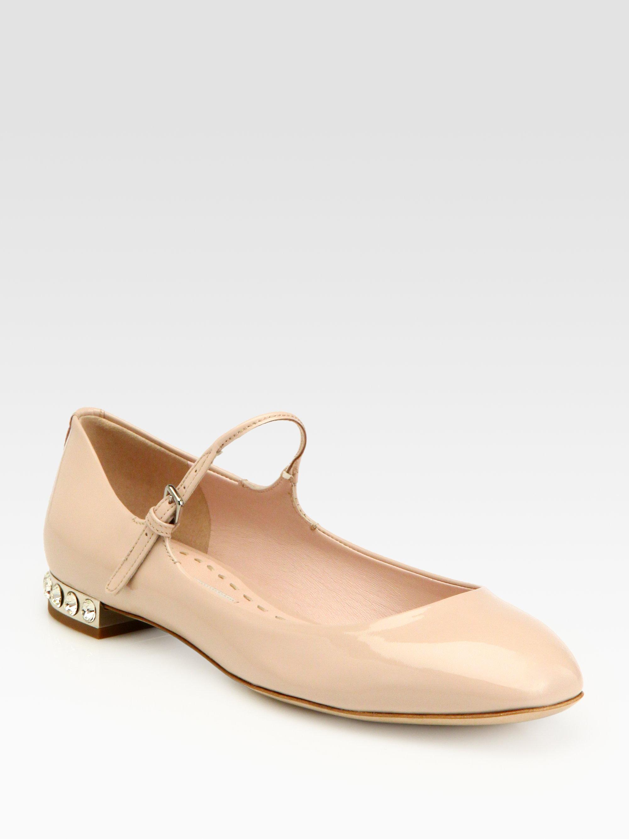 Miu Miu Prada Classic Patent Jeweled Heel Mary Jane Shoes EU 39.5 8.5   eBay