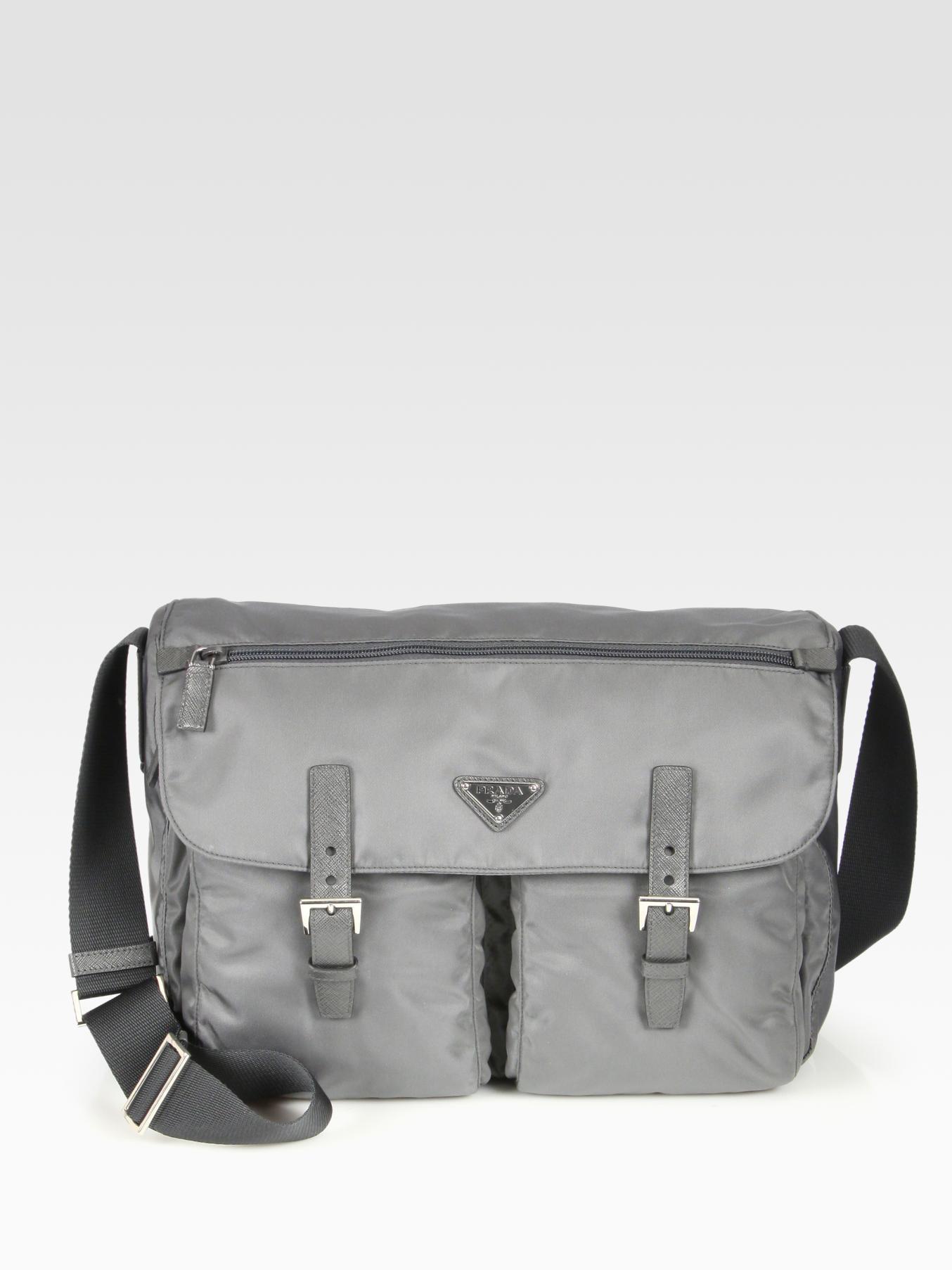 749e0ea4e3e4 Lyst - Prada Vela Messenger Bag in Gray for Men