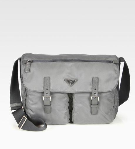 prada vela large messenger bag