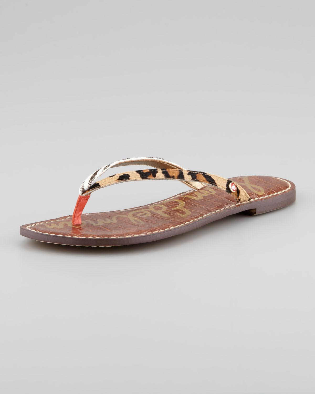 Sam Edelman Gracie Brahma Hair Thong Sandals ADwTc