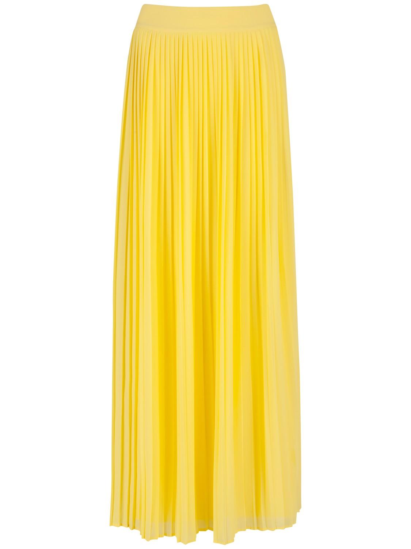 ted baker ochelle split front maxi skirt in yellow lyst