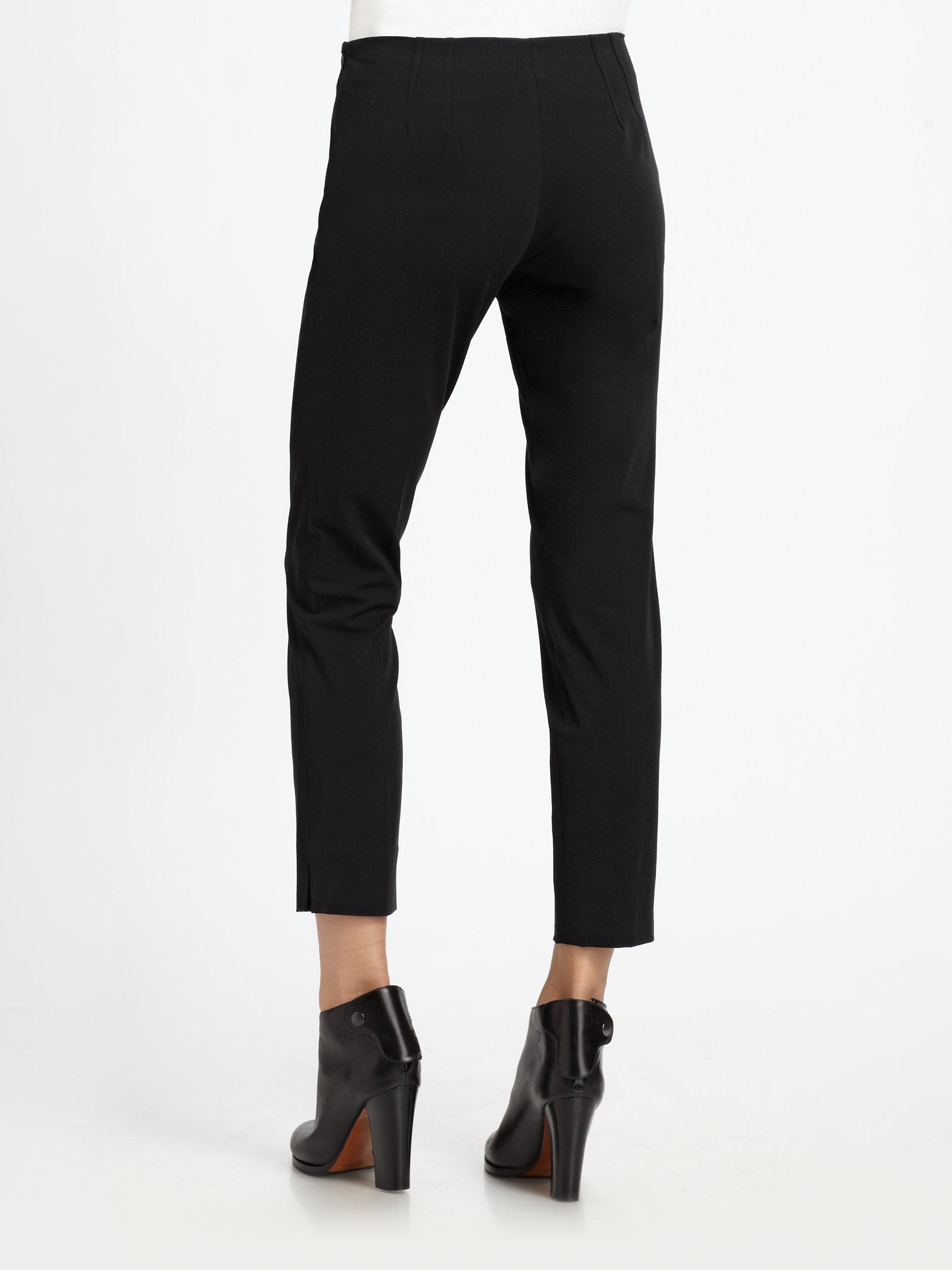 Lyst Theory Belisa Cropped Skinny Dress Pants In Black
