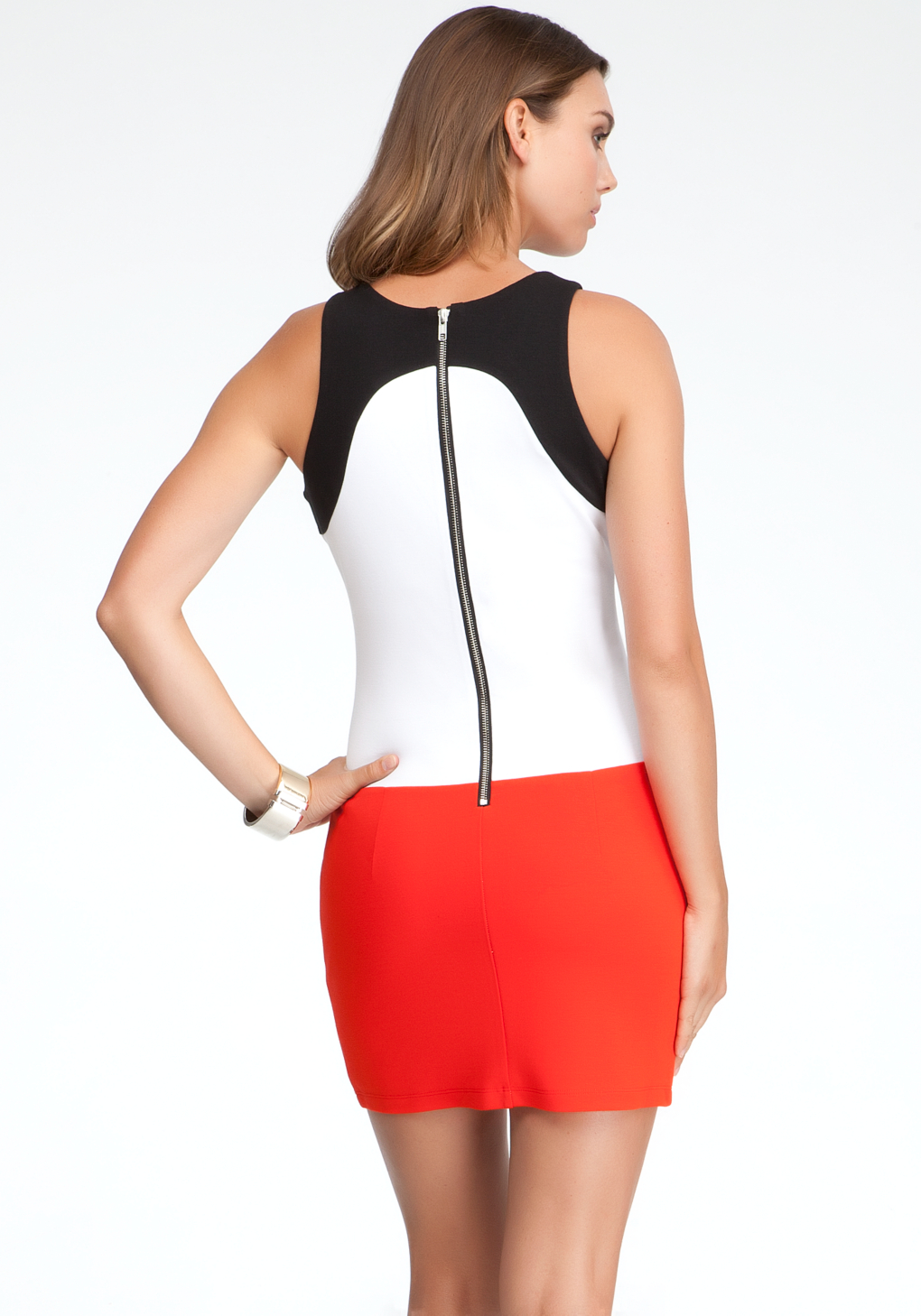 Bebe pauline colorblock dress in white lyst gallery ombrellifo Images
