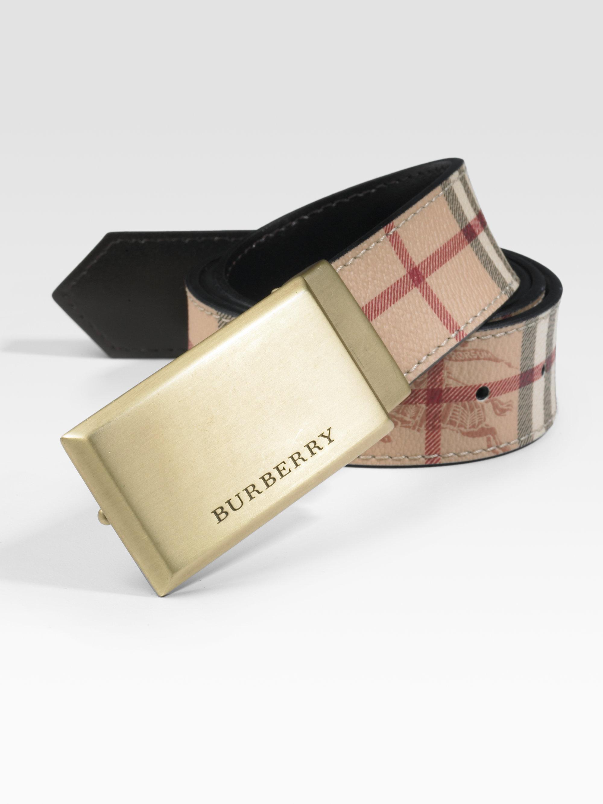 b130b6058b73 ... promo code for lyst burberry barnesfield classic haymarket check belt  in brown b78a7 45cf2