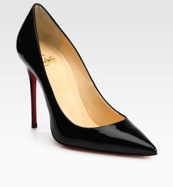Christian Louboutin Decolete 554 Patent Leather Pumps - Lyst