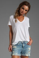 Enza Costa Tissue Jersey Loose Tee in Cloud - Lyst