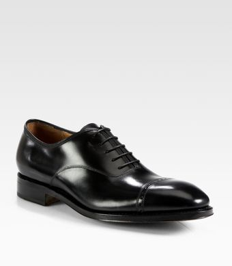 Ferragamo Domino Calfskin Leather Lace Up - Lyst