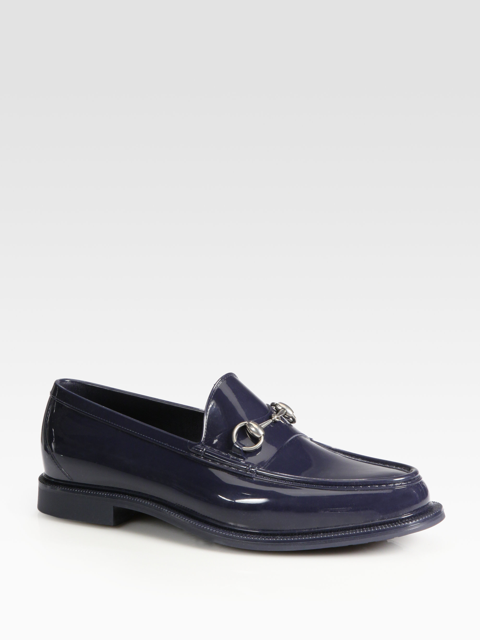 John Lobb Shoes >> Gucci Rubber Rain Shoe in Black for Men (blue) | Lyst