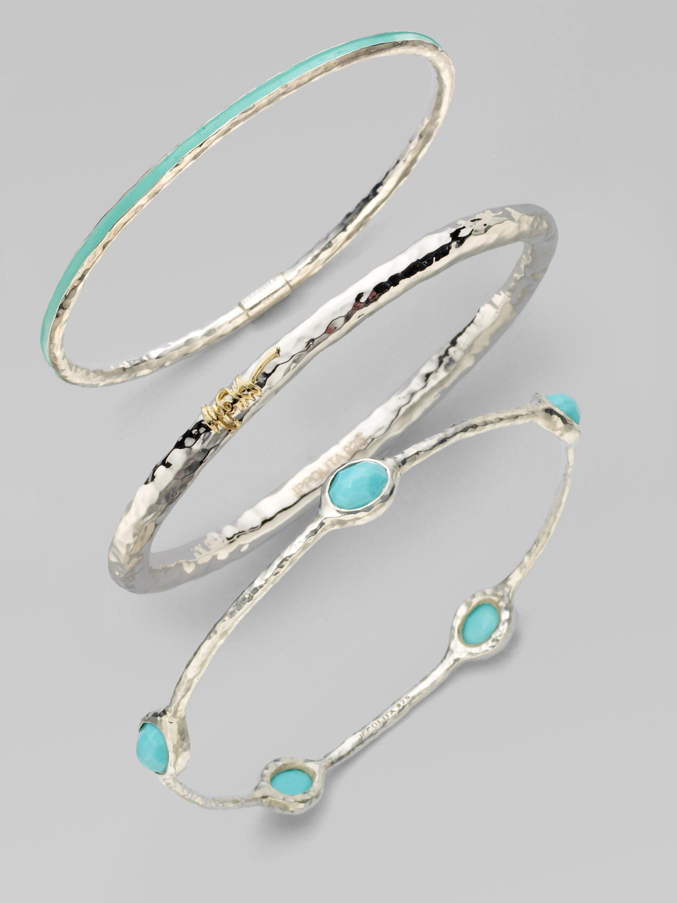ippolita rock turquoise sterling silver five