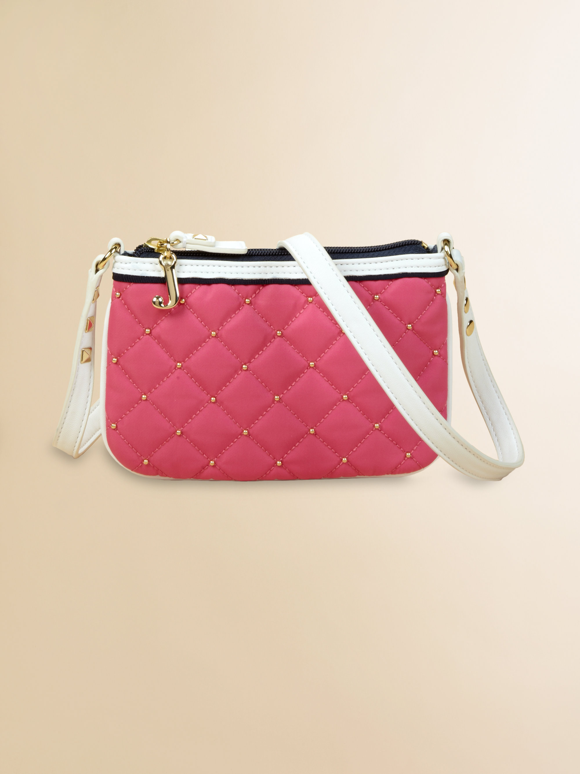 Lyst - Juicy Couture Girls Quilted Nylon Crossbody Bag in Pink c384a0f43