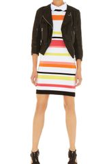Karen Millen Stripe Knit Collection Dress - Lyst