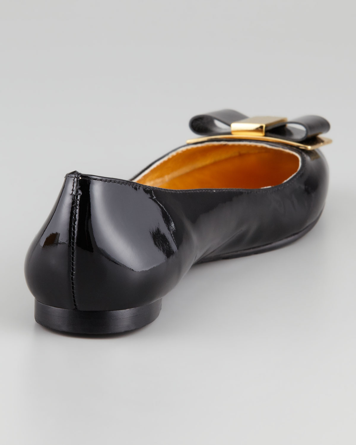 4d3e8786d3 Lyst - Kate Spade Trophy Bow Patent Leather Flat in Black