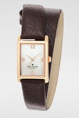 Kate Spade Cooper Rose Goldtone Wrapped Watch - Lyst