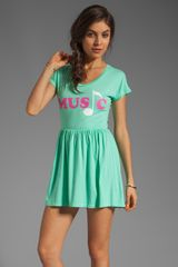 Local Celebrity Music Mini Dress in Mint - Lyst