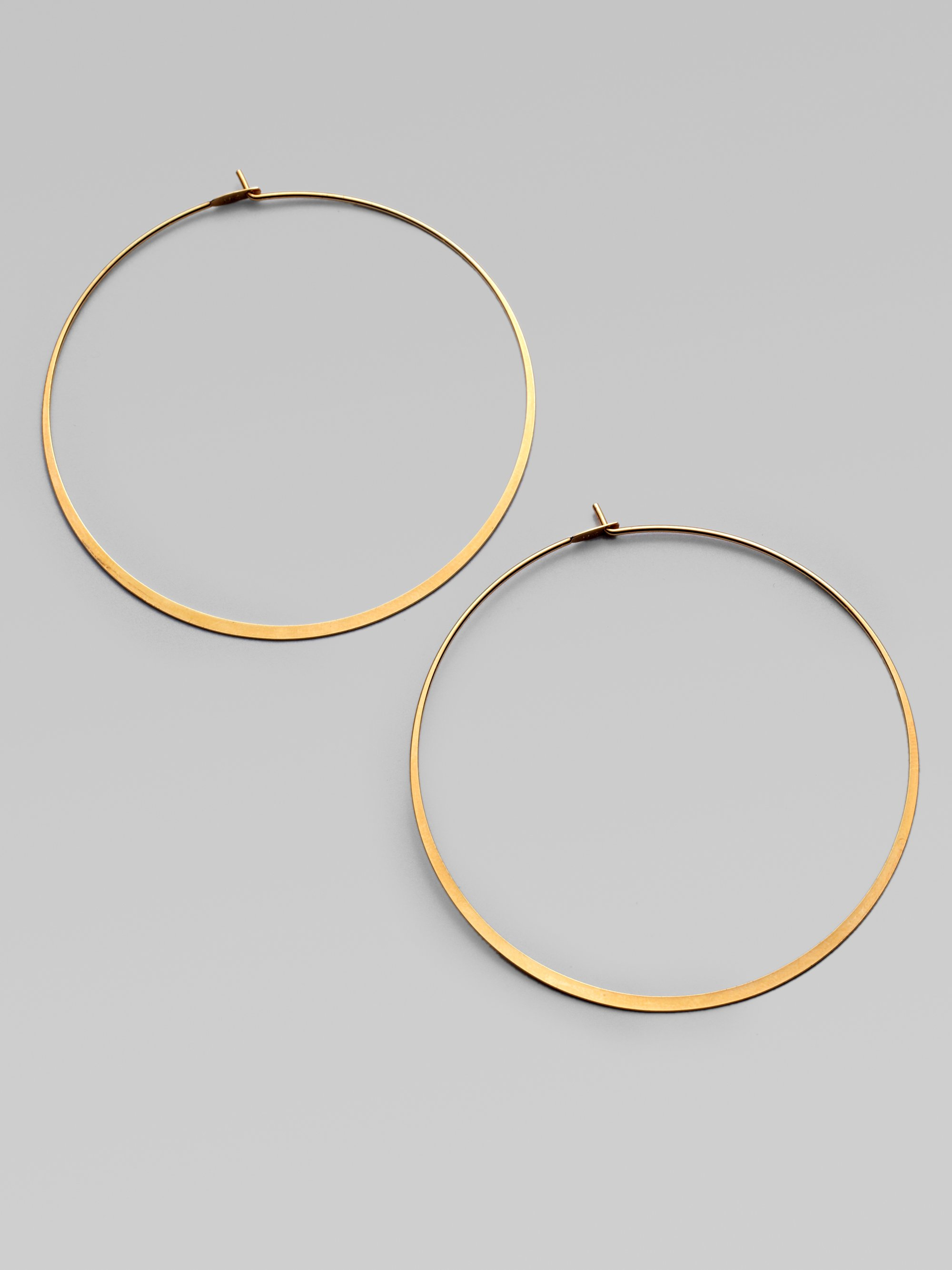 Michael Kors Pavé Engraved Hoop Earrings Heritage Thin Whisper Goldtone Earrings2 2