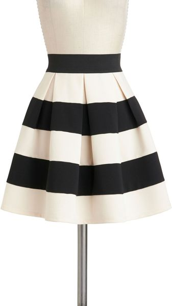 ModCloth Stripe It Lucky Skirt - Lyst