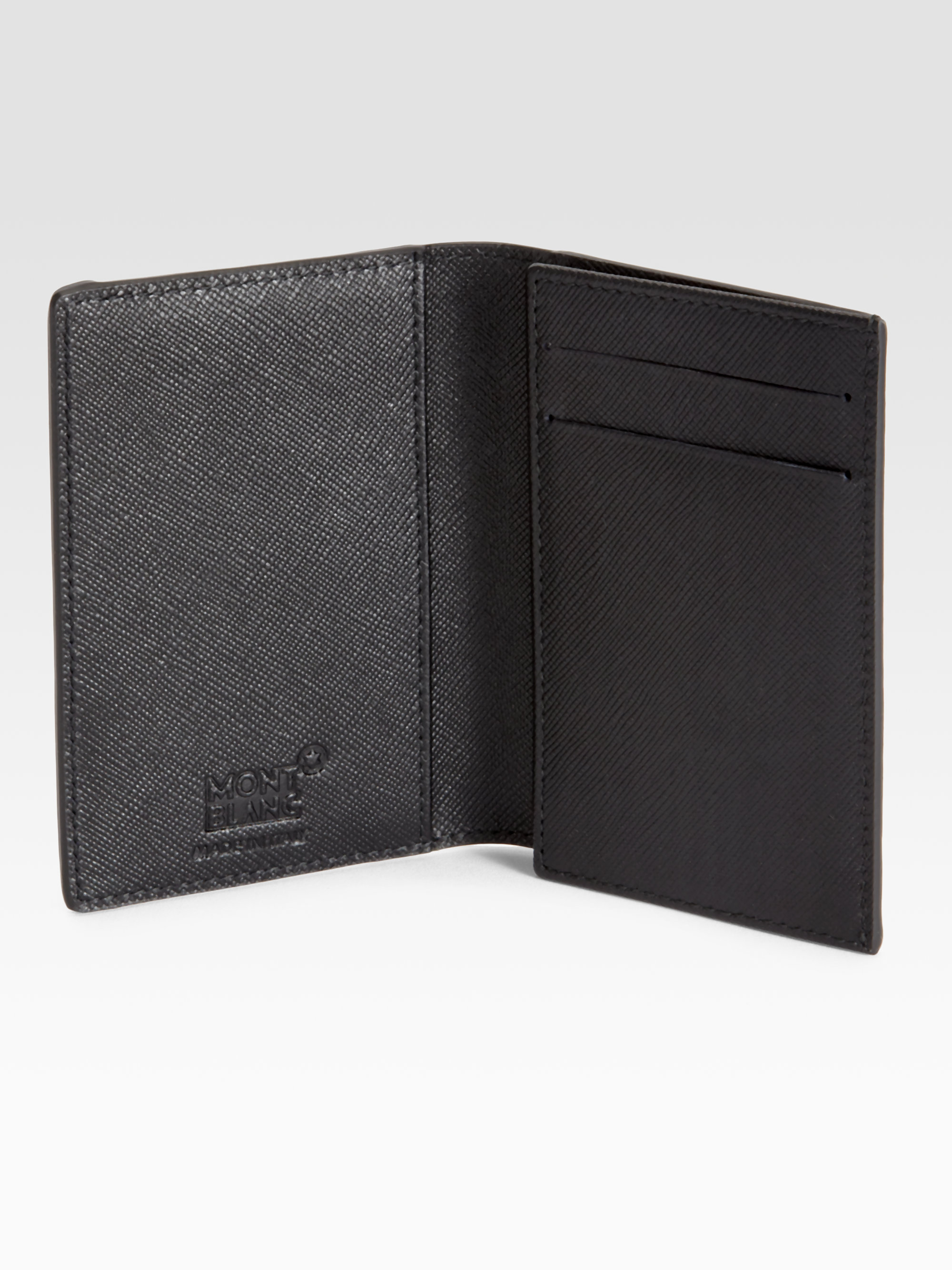 Lyst - Montblanc Nightlife Business Card Holder in Black for Men