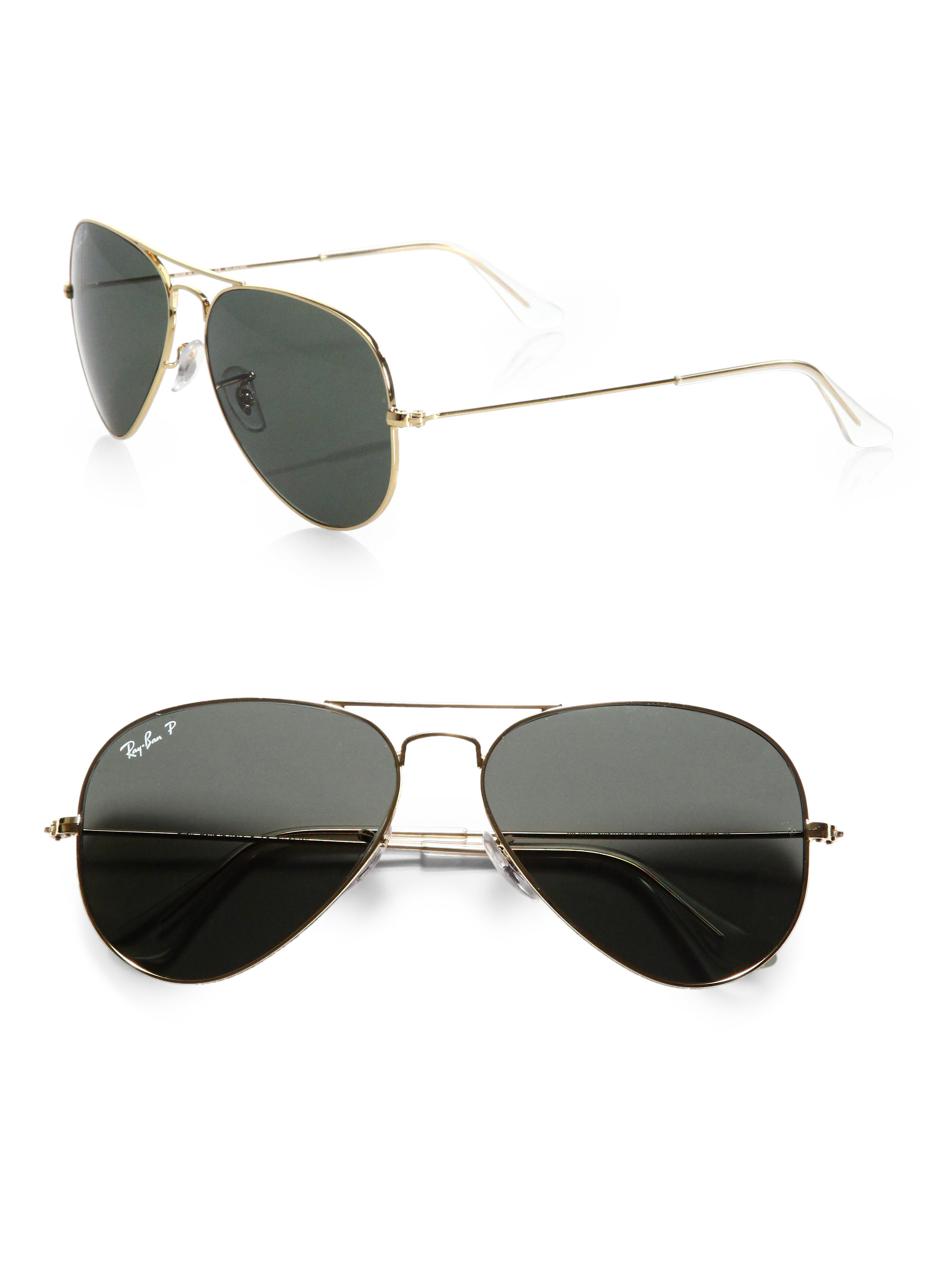 ray ban aviator pewter polarized sunglasses
