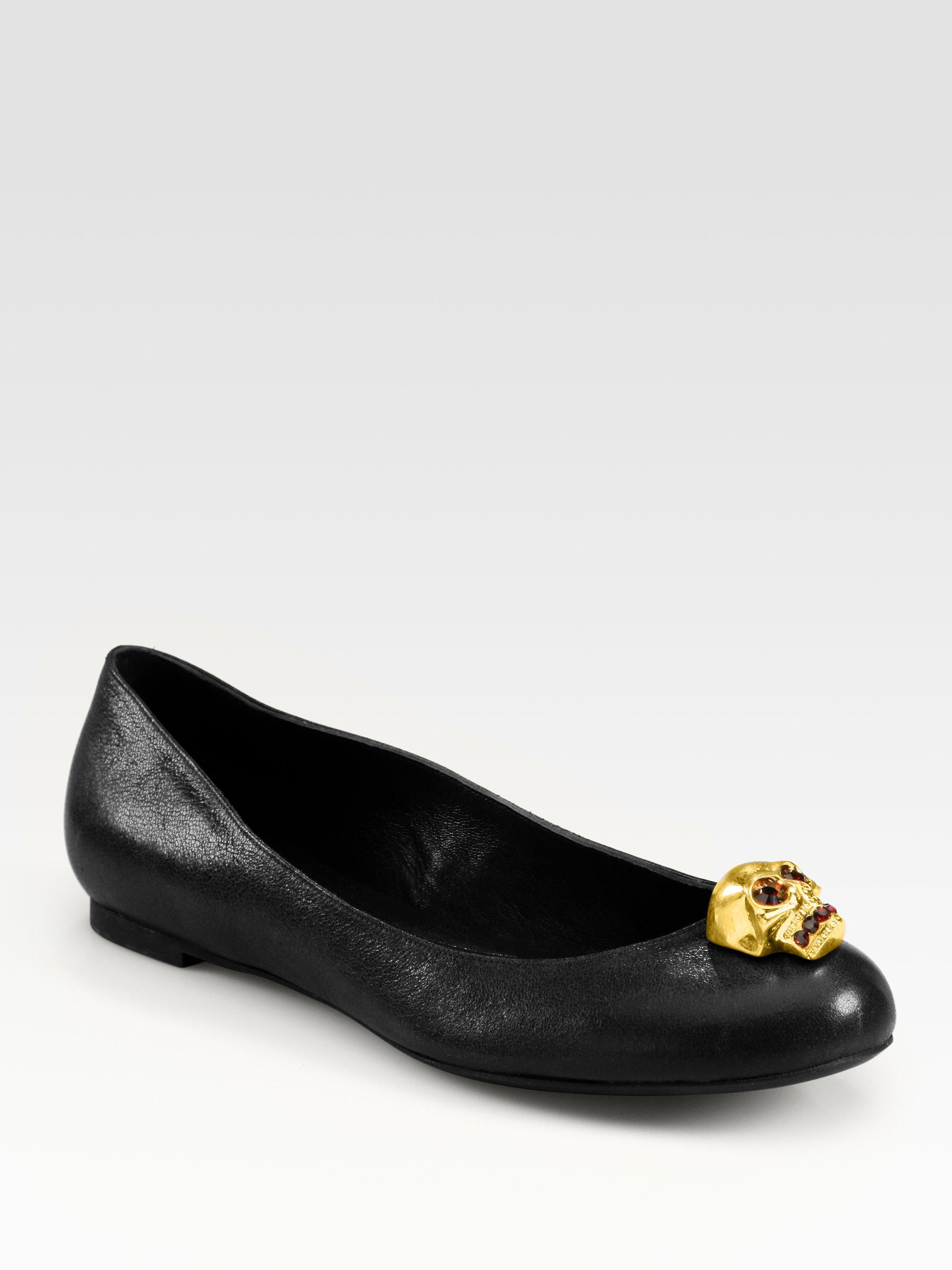 Alexander McQueen Leather Ballet Flats iuzWsD3Rtj