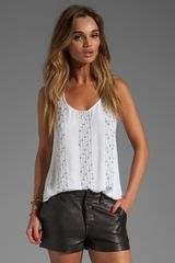 Ella Moss Luau Sequin Tank in White - Lyst