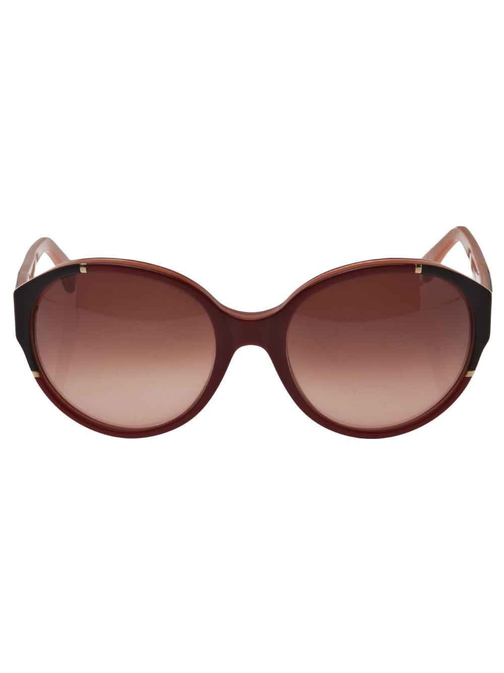 Marni Oversized Round Sunglasses in Red