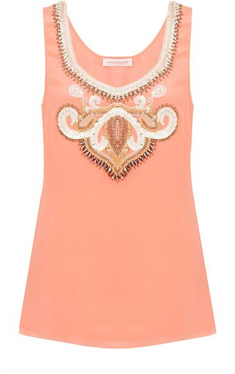 Matthew Williamson Embellished Tank Top - Lyst